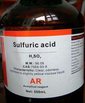 axit sunfuric h2so4